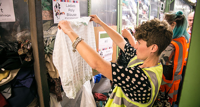 Bristol Textile Recycling clothes sorting
