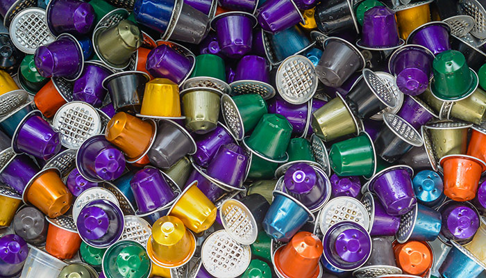 Coffee pods are difficult to recycle