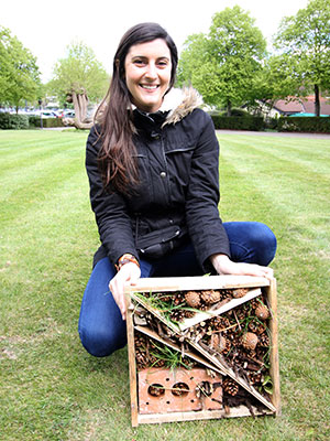 Ecosurety bug hotel Abigail Warren