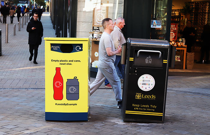 #LeedsByExample recycling bins