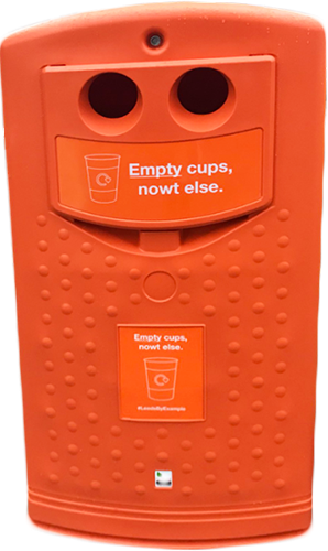 #LeedsByExample coffee cup bin