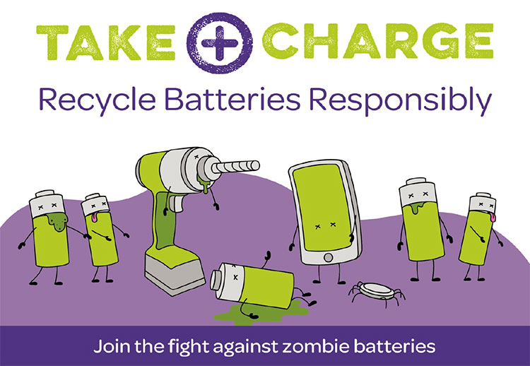 Take charge of battery recycling